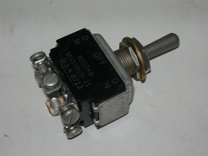Switch, Toggle - DPDT - On-Off-On - One Side Spring Loaded