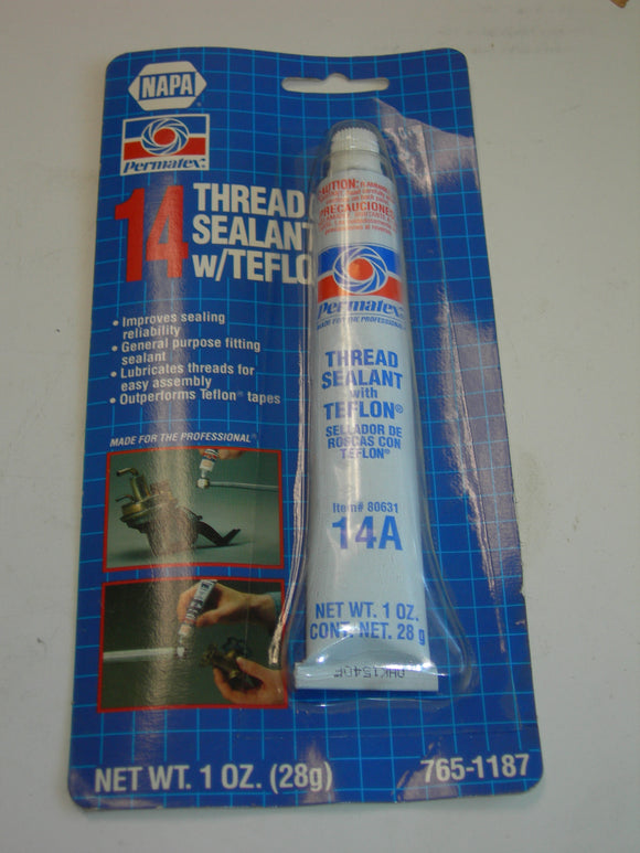 Sealant, Thread with Teflon - 1 Ounce - Permatex