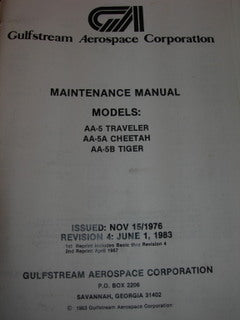 Manual, Grumman American - AA-5/5A/5B - Maintenance