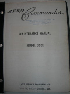 Manual, Aero Commander 560E - Maintenance