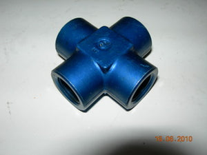 "Cross, Pipe/Pipe/Pipe/Pipe - 3/8"" NPT Female"
