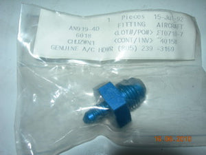 "Adapter, Reducer Male/Male Flare - 3/8"" OD Tube to 1/8"" OD Tube"