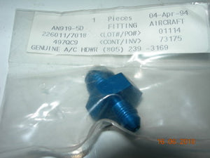 "Adapter, Reducer Male/Male Flare - 3/8"" OD Tube to 3/16"" OD Tube"