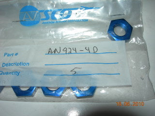 Nut, Bulkhead Adapter - 7/16-20 - 1/4