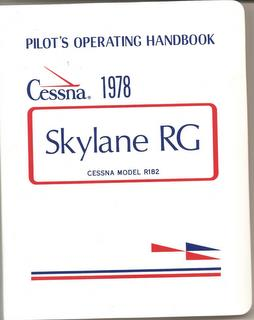 Manual, Cessna - Skylane R182RG - 1978 - Pilot's Operating Handbook