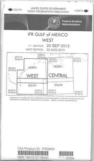 Gulf of Mexico West - Low/High Altitude - IFR - Planning Chart - Folded