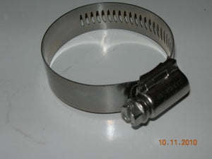"Clamp, Worm Drive - Hose - Aero-Seal - Breeze - 1 1/16"" to 2"" - Stainless Band/Hex Nut"