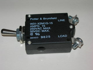 Breaker, Circuit - Switch - 15 Amp - TYCO/Potter & Brumfield