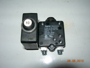Breaker, Circuit - Push/Reset - 10 Amp