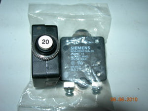 Breaker, Circuit - Push/Reset - 20 Amp