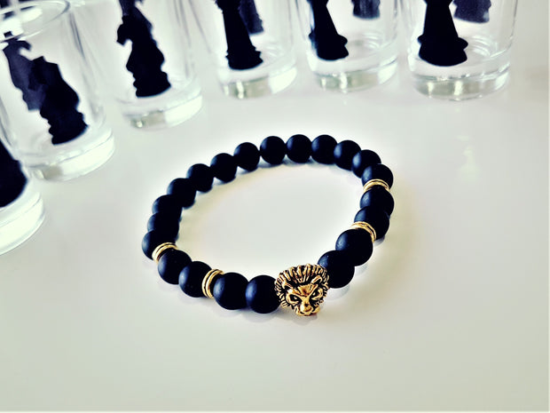 Lion Face 18k Gold Plated Bracelet