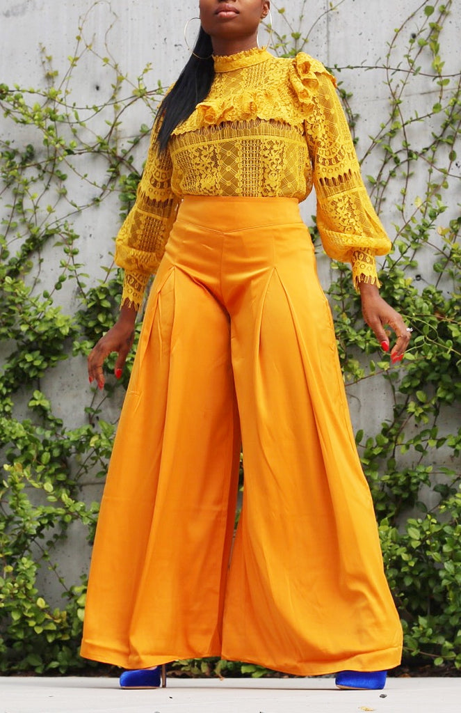 Life is Golden Wide Leg Trousers