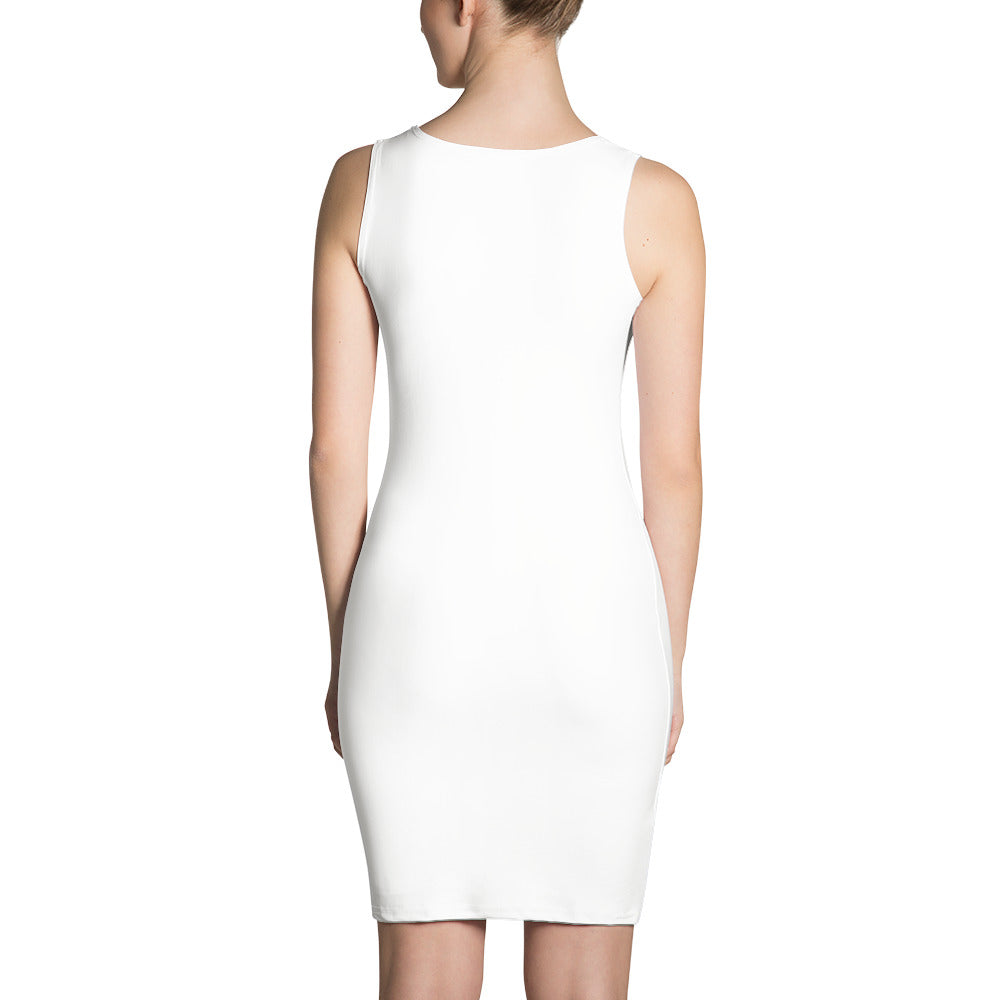 RUNNER DRESS WHITE & ST LUCIA