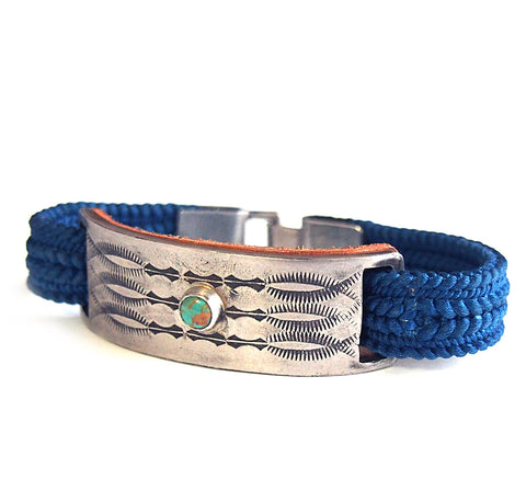 BRAID PLATE ON TURQUOISE BRACELET