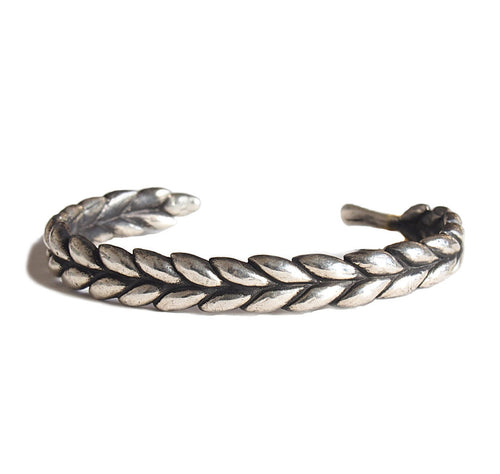 WHEAT SILVER BANGLE