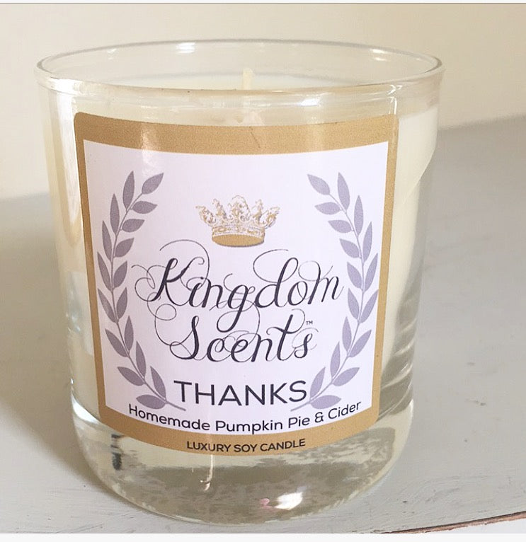 Thanks, Luxury Soy Candle, 11 oz