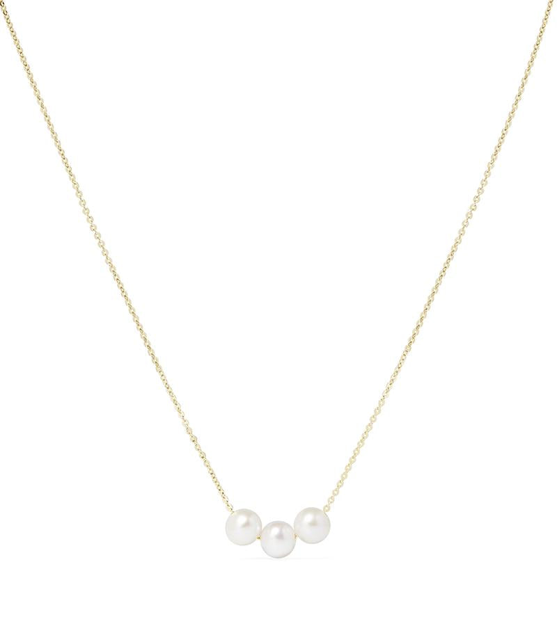 Oh So Fine Trio Necklace Yellow Gold