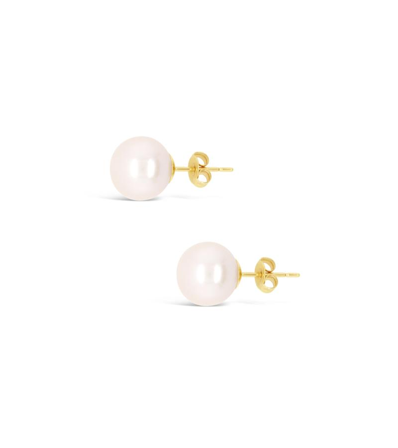 Power Pearl Stud Earring 9ct Gold