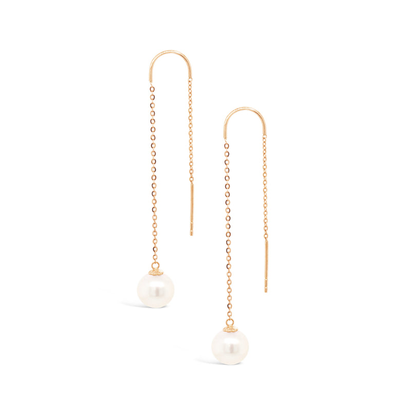 Oh So Fine Drop Pearl Earring 18ct