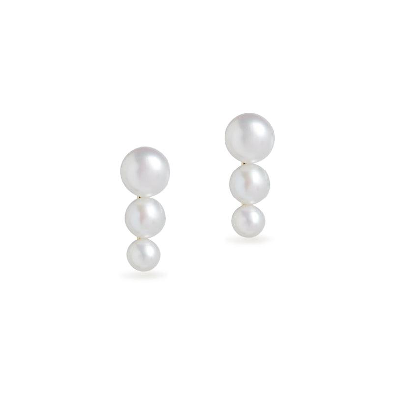 Trio Cloud Pearl Stud Earrings