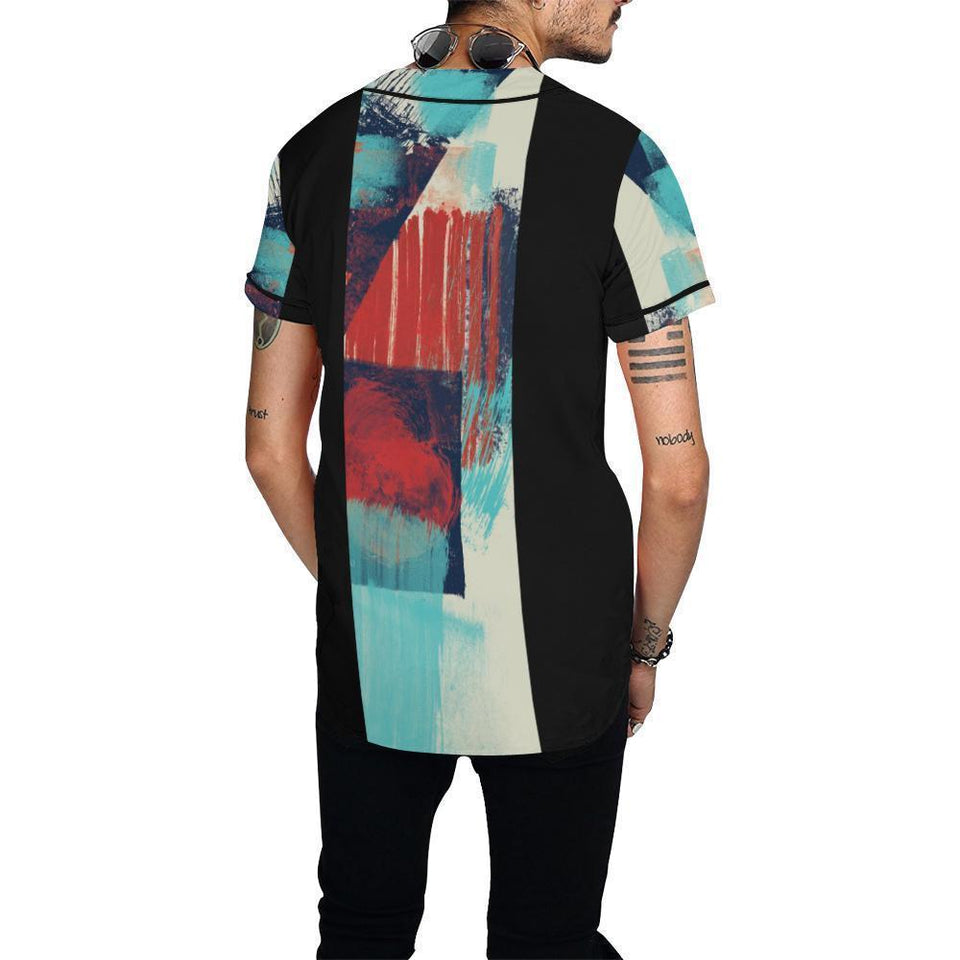 All Over Print Baseball Jersey for Men (T50), Morati World, Morati Avant Garde Jersey - Morati