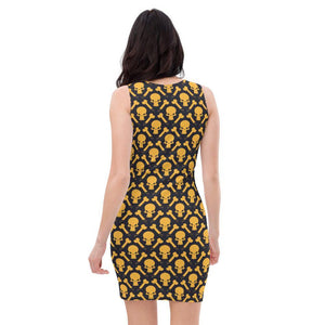 All-Over Print Dress, Morati World, Molly Black - Morati