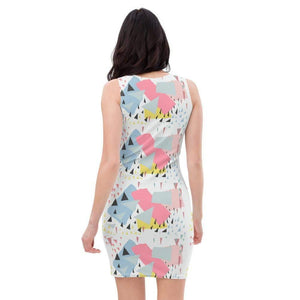 All-Over Print Dress, Morati World, BlueSky Dress - Morati