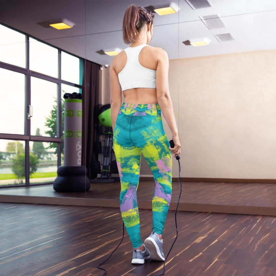 Morati Chakra Aventurine Yoga Leggings , Yoga Leggings, - Morati Streetwear Hypebeast Urban Fashion Online Shop.