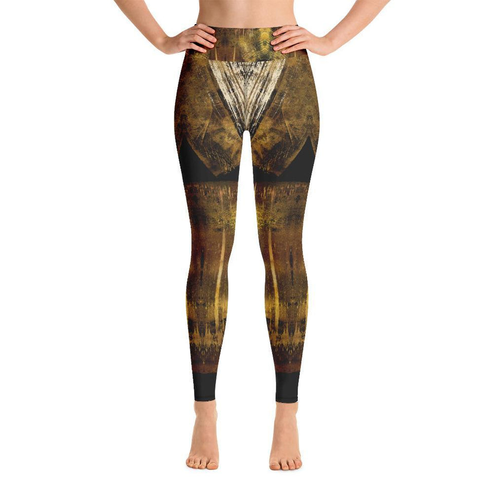 Morati Chakra Gold Calcite Yoga Leggings , Yoga Leggings, - Morati Streetwear Hypebeast Urban Fashion Online Shop.