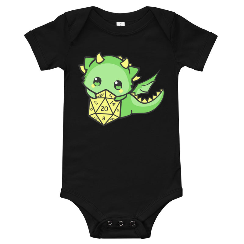 Baby Dragon With D20 Baby Bodysuit