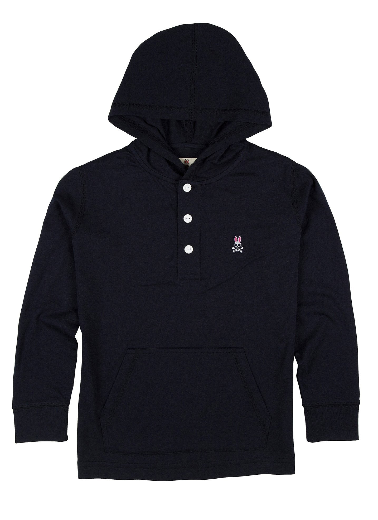 BOYS PLACKET HOODIE - B0H241S7PC - NAVY