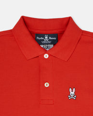 BOYS CLASSIC POLO - B0K001CRPC - 620 BRILLIANT RED