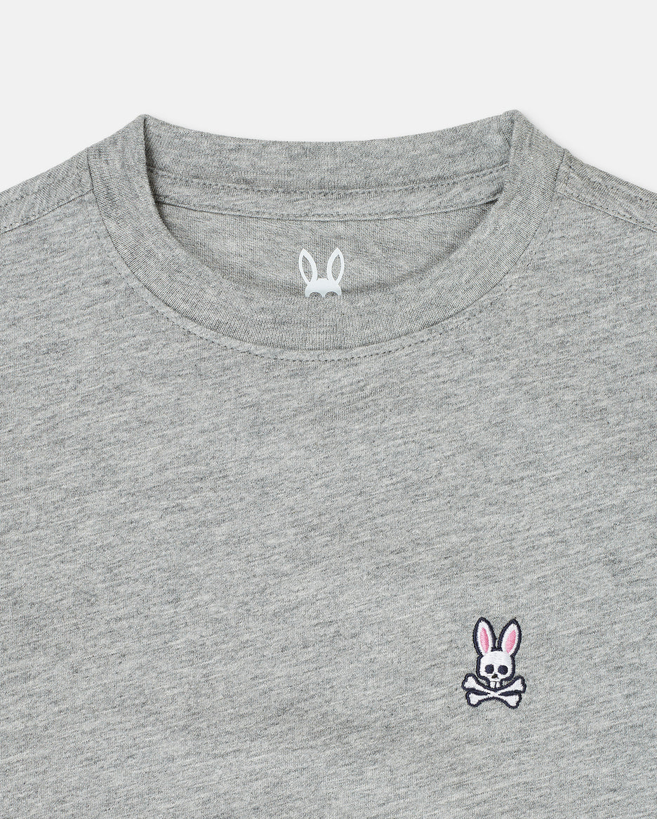 BOYS CREW NECK TEE - B0U014CRPC - 062 HEATHER GREY