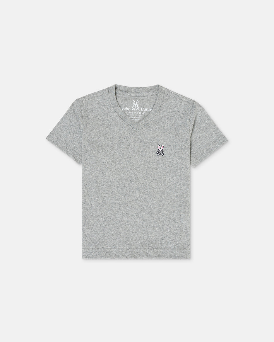 BOYS V NECK TEE - B0U100CRPC - 062 HEATHER GREY