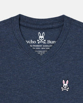 BOYS V NECK TEE - B0U100CRPC - 413 HEATHER NAVY