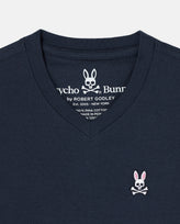 BOYS V NECK TEE - B0U100CRPC - 410 NAVY
