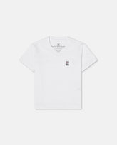 BOYS V NECK TEE - B0U100CRPC - 100 WHITE