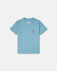 BOYS CLASSIC V NECK TEE - B0U100E1PC - ADRIATIC (ART)