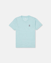 BOYS CLASSIC V NECK TEE - B0U100E1PC - HEATHER CURACAO (HCC)