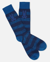 MENS WIDE STRIPE SOCK - B6F414E1PB - BLUE PRINT (BPT)