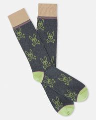 MENS ALL OVER BUNNY SOCK - B6F980E1PB - HEATHER GRANITE (HGT)