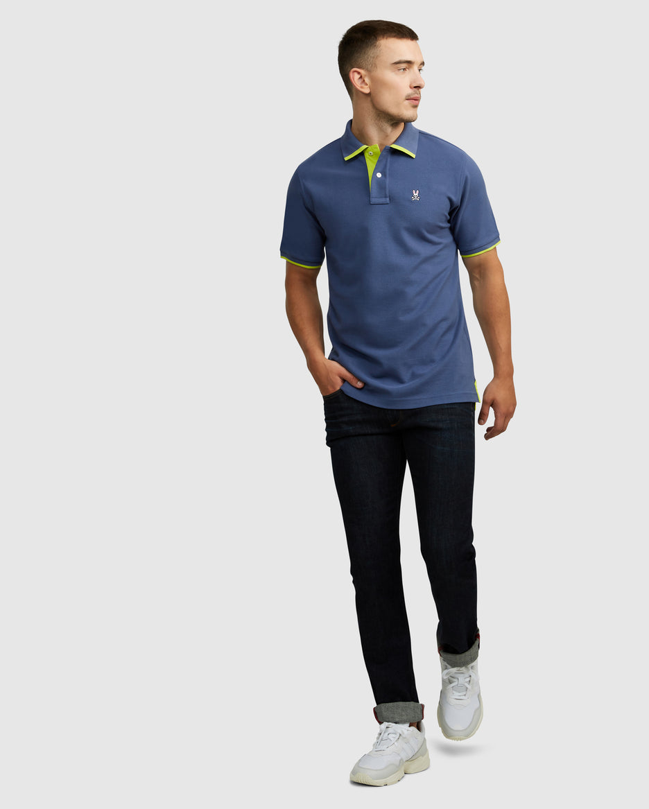 MENS KENDAL POLO - B6K611H1PC - BLUE SLATE