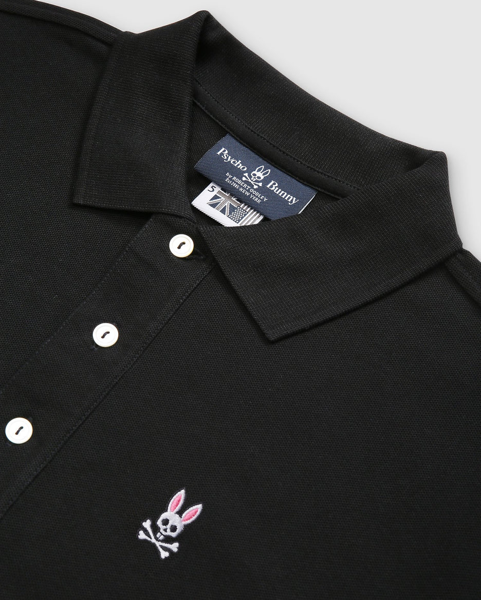 MENS LONG SLEEVE POLO - B6M658ARPC - BLACK