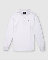 MENS LONG SLEEVE POLO - B6M658ARPC - WHITE