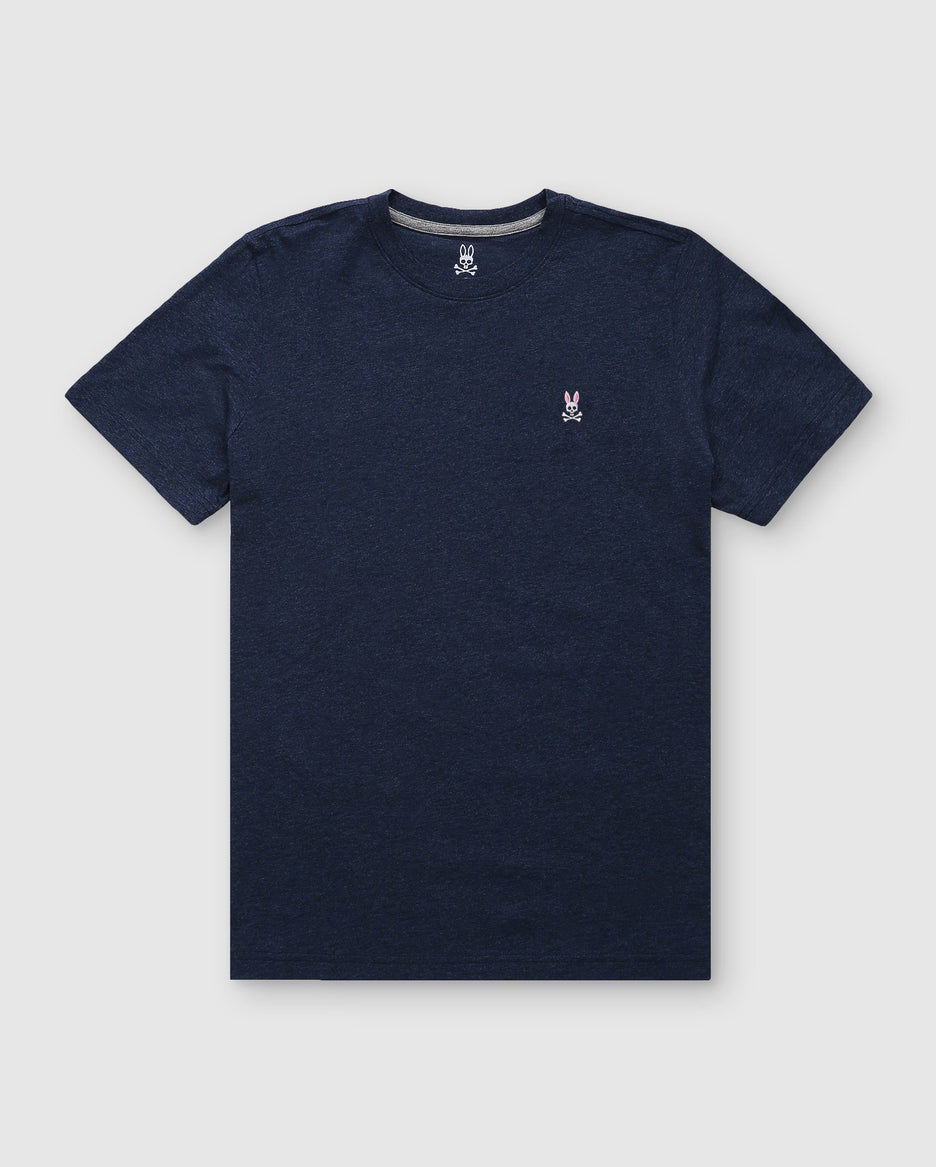 MEN'S CREW NECK TEE - B6U014CRPC - HEATHER NAVY