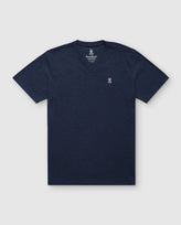 MEN'S V NECK TEE - B6U100ARPC - HEATHER NAVY (HNV)