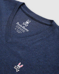 MEN'S V NECK TEE - B6U100ARPC - HEATHER NAVY