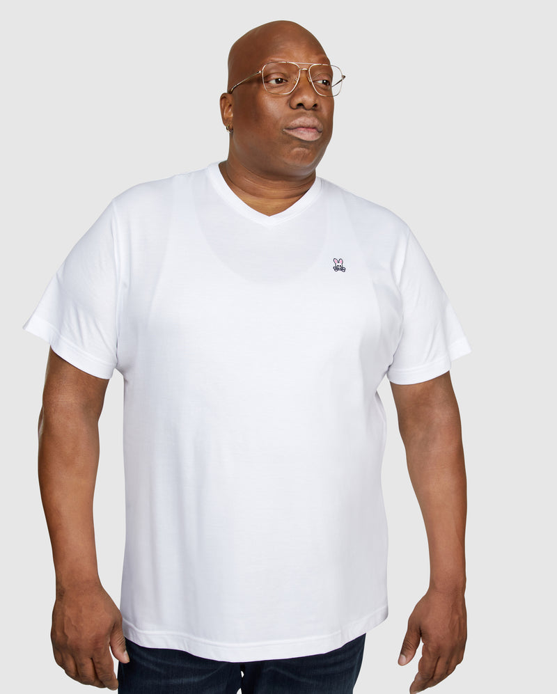 MENS BIG AND TALL CLASSIC V NECK TEE - B9U100ARPC
