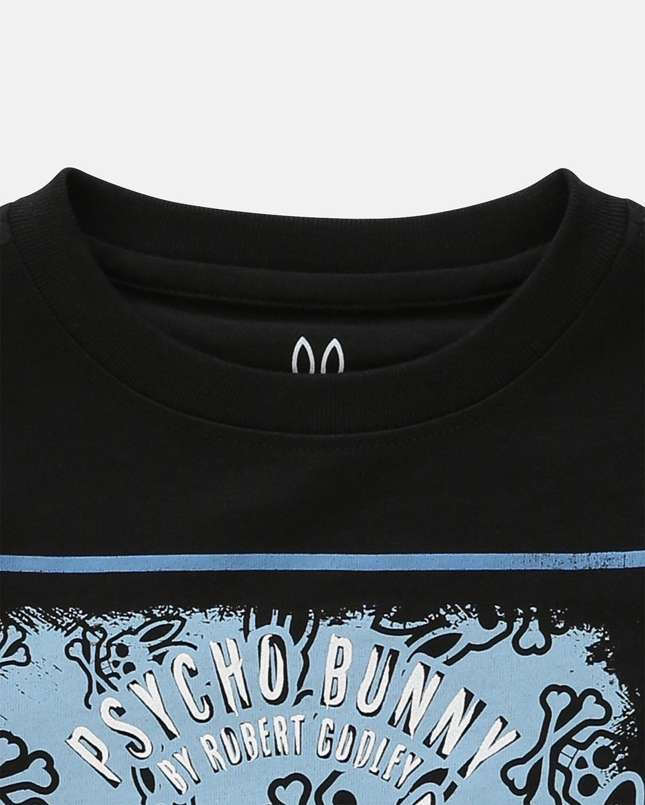 BOYS PRINTED TEE SHIRT - B0U922B1PC - BLACK (BLK)