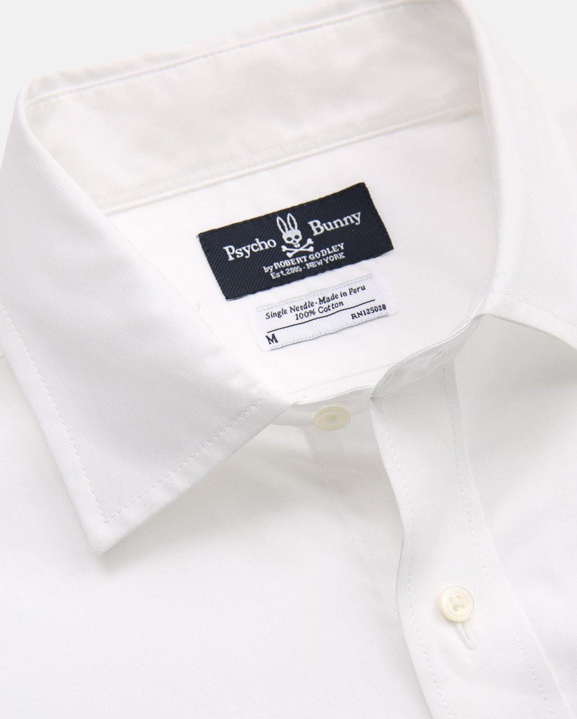 COTTON POPLIN SPORT SHIRT - B6C286CRPC - WHITE (WHT)